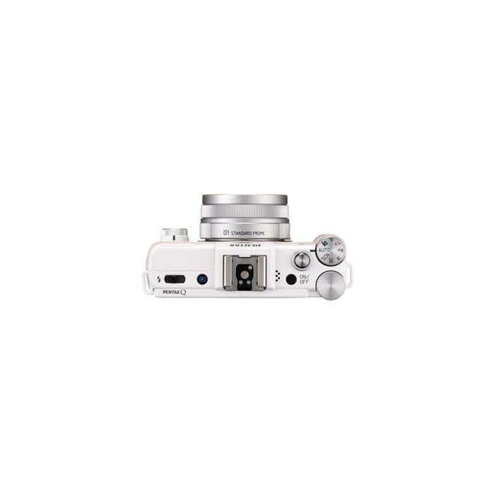 Pentax Q Mirrorless Digital Camera, White, With 8.5mm F/1.9 AL [IF] Lens, Silver (40.5), & 5-15mm F/2.8-4.5 Lens, Silver (40.5)  {12.4 M/P}