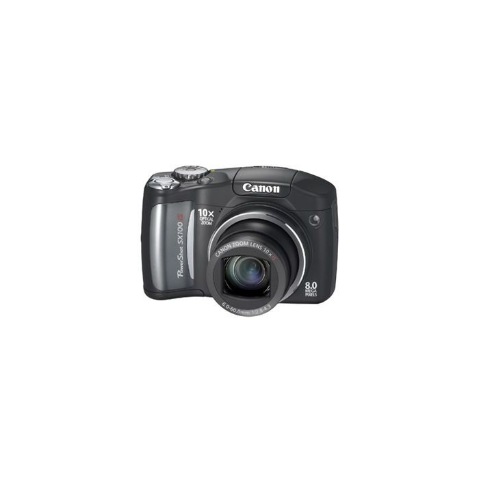 Canon Powershot SX100 IS Digital Camera, Black {8 M/P}
