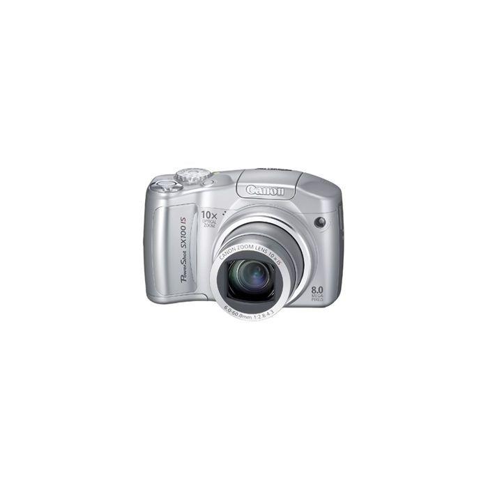 Canon Powershot SX100 IS Digital Camera, Silver {8MP}