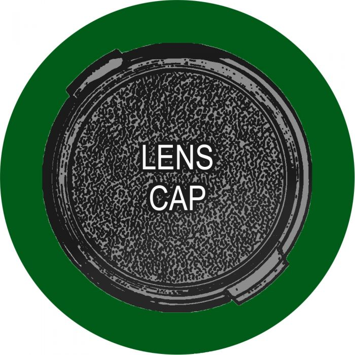 Sony Front Lens Cap for DSC-H2, Snap-On, Black